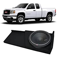 2007-2013 GMC Sierra Extended Cab Truck Rockford Punch P1S210 Single 10 Sub Box Enclosure - Final 2 Ohm