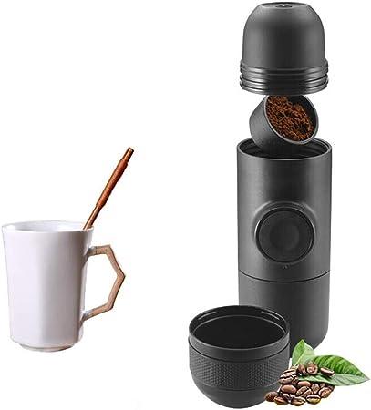 Yocobo Cafetera Pequeña Cápsula De Viaje Manual de la presión de Mano de café Máquina de café Desplazamiento de la máquina portátil Fabricante de café Mini doméstica pequeña: Amazon.es: Hogar