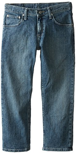 Lee Boys Jeans - Lee Big Boys' Husky  Straight Fit Straight Leg Jeans, Deep Blue, 12 Husky