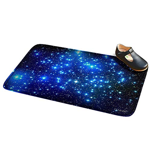 Cennbie Non-Slip Bathroom Mat Super Soft Bathroom Rugs Galaxy Soft Absorbent Large Bath Rugs, 30