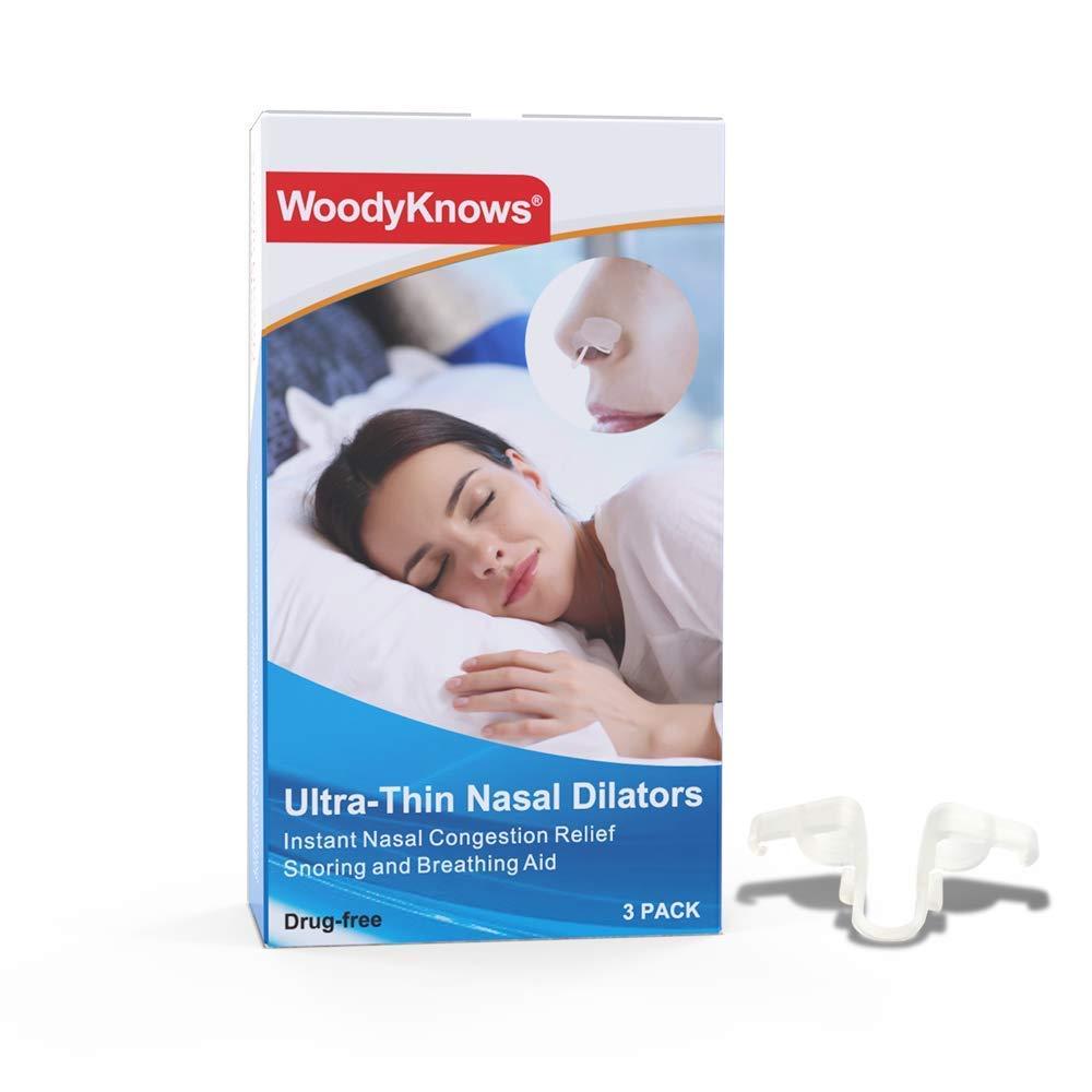WoodyKnows Ultra-Thin Nasal Dilators (Combo S+M+L 3 Pack)