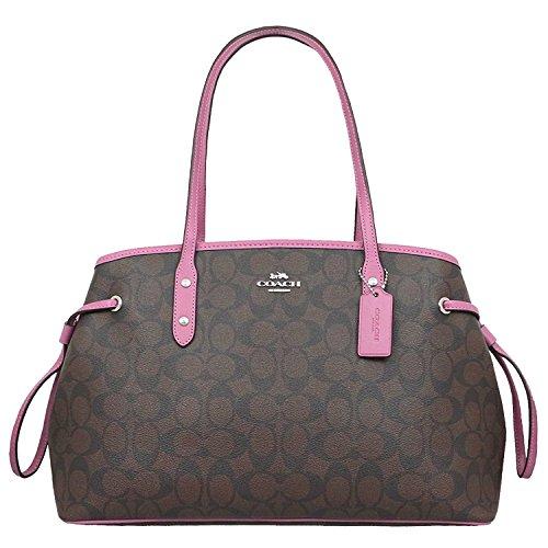 COACH DRAWSTRING CARRYALL IN SIGNATURE (Signature Drawstring Handbag)