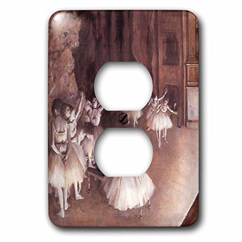 3dRose lsp_126968_6 Ballet Rehearsal on The Stage by Edgar Degas Light Switch Cover