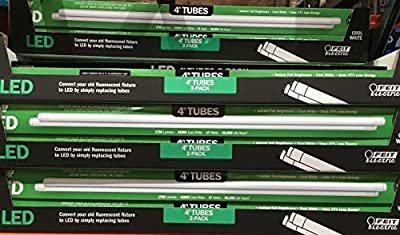 Lot of 6 Boxes of Feit Electric LED 4 ft Linear Tubes 2 pk