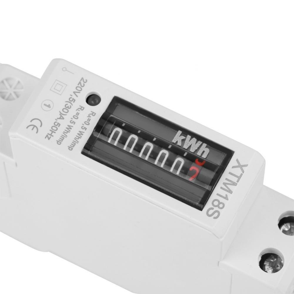 30 Un Medidor de Energ/ía Monof/ásico 1P 2 Hilos Tipo de Riel Din Kwh Vatios Hora Medidor de Energ/ía El/éctrica Medici/ón Digital EKM Medidor de Kwh El/éctrico 220V 5