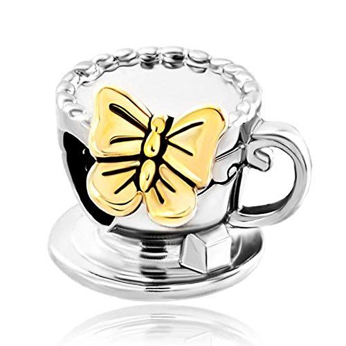 Butterfly Animal Enamel Silver Bracelet
