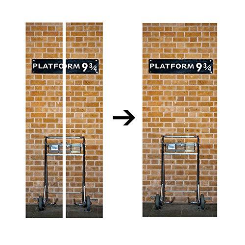 MJJEsports 3D Diy Harry Potter Plataforma 9 3/4 Puerta De La Pared ...