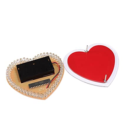 New Arrival 1 Set Diy Colorful 51 Mcu Heart-shaped Light Water Led Lamp Electronic Kit With Shell High Quality Materials Electronic Components & Supplies