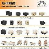 Porch Shield Heavy Duty 600D Waterproof Patio Fire