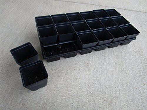 (Landmark Plastics Set of 3 Trays Plus 54 POTS - 3.5