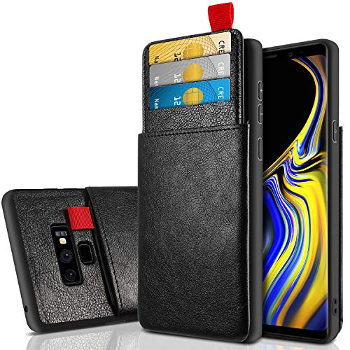 Cheeringary Case for Galaxy Note 9 Case Wallet Protective Slim Case with Credit Card Holder Slot Pocket Soft Leather Case Shockproof TPU Bumper Cover for Note 9 6.4 Inch (2018) Black