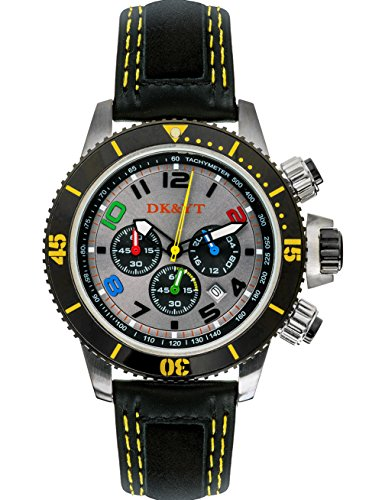 (Men's Watches for Sport,Analog Anti Reverse One-Way Rotating Bezel Wrist Watch (Yellow))