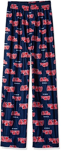 NCAA by Outerstuff NCAA Mississippi Old Miss Rebels Youth Boys Team Color Printed Pant, Dark Navy, Youth -