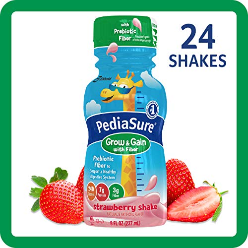Strawberry Real Gains - PediaSure Grow & Gain With Fiber, Kids' Nutritional Shake, With Protein, DHA, And Vitamins & Minerals, Strawberry, 8 fl oz, 24-Count