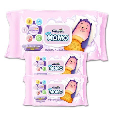 Baby Wipes, Infused with Multivitamins, Hypoallergenic, Pure, Gentle and pH Balanced Wipes, Sensitive Wipes, Safe for Sensitive Skin, Set of 3 Packs - Baby Wipes Ultra Moisturizing