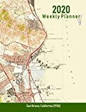 Calling all map lovers! Looking for a planner that expresses your cartographic interest? This weekly planner for 2020 features a detailed section of a vintage USGS topographic map on the cover. Makes a great gift for the local history buff, t...