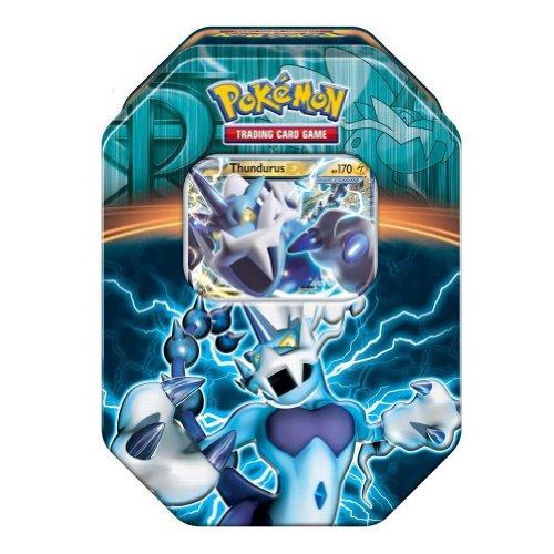 Pokemon Black & White - Fall Legendary Tin Thundurus-EX (Black And White Legendary Treasures Booster Box)