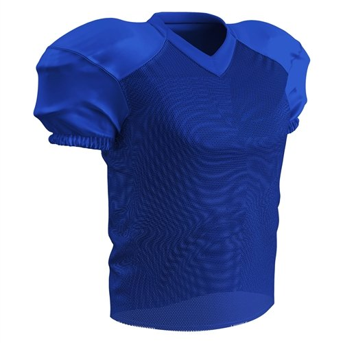 CHAMPRO Youth Stretch Polyester Practice Football Jersey, Royal, Medium