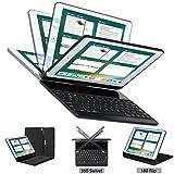 Keyboard case Compatible iPad Pro 12.9 inch 2015&2017 2nd Gen, Lenrich 360 Rotatable Wireless Keyboard Smart Folio Swivel Stand Hard Shell Cover Auto Sleep/Wake up Black