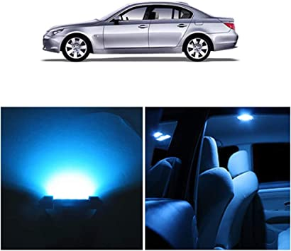 Blue CANBUS ERROR FREE INTERIOR CAR LED LIGHT BULBS KIT