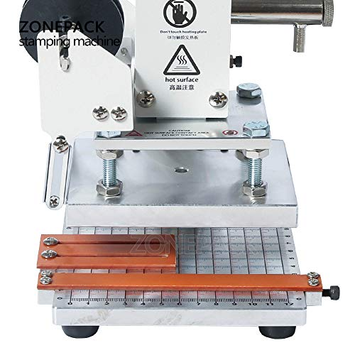 ZONEPACK 1013cm Digital Embossing Machine Hot Foil Stamping Machine Manual Tipper Stamper for PVC Leather Pu and Paper Stamping with Paper Holder and Scale by ZONEPACK (Image #6)