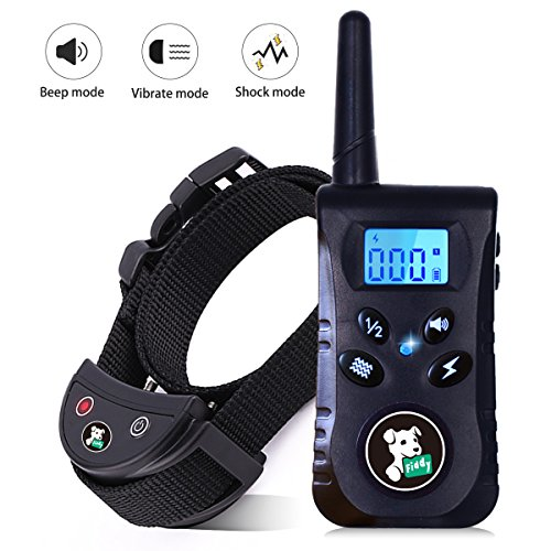 Dog Training Collar with Remote,Fiddy Shock Collar for Dog Bark Pet Electronic Collar for Small Medium Large All Breed Dogs,Beep Vibration Shock 3 Modes by Fiddy