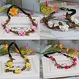 Pyrsun(TM) New Summer Style Women Hair Accessories Fashion Leather Weaved Chain 5 Flowers Headband Lady Elastic Hair Band weddings Headband