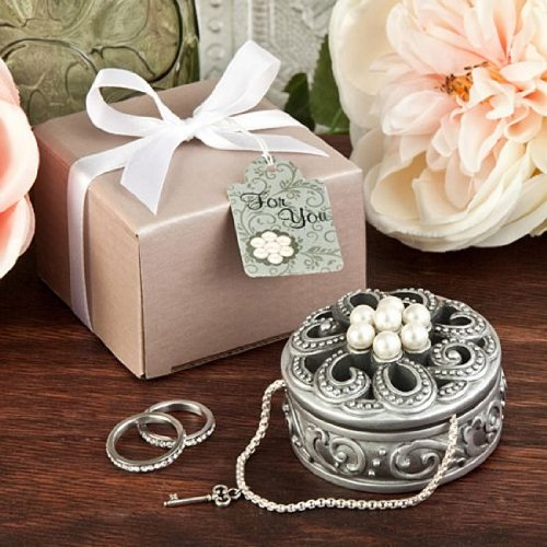 FASHIONCRAFT Pearl Flower Curio Boxes