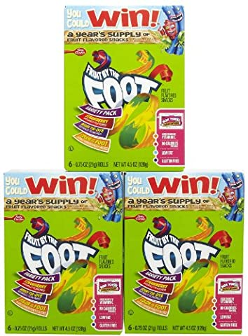 Fruit by the Foot Fruit Snacks, Variety Pack - 4.5 oz - 3 pk
