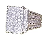 Gempara Designer Inspired Wheaton Ring Measurements: 16mm x 12mm with 1.22 Simulated Diamonds Size 7