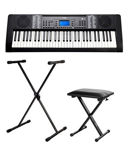 Schule Zeitloses 61-Tasten Keyboard in weiß mit USB//MP3 Port im Set inkl