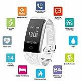 Fitness Tracker Bloranda Smart Wristband Bracelet IP67 Waterproof Wireless...