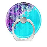 Pop Phone Ring Stand Holder 360° Rotation Reusable Ring Holder Finger Grip Universal socket Kickstand for iPhone X 6 6s 7 7 8 Plus Galaxy S8 S7 Edge-Purple - Blue - and Teal Wood Planks & Paint Splatter