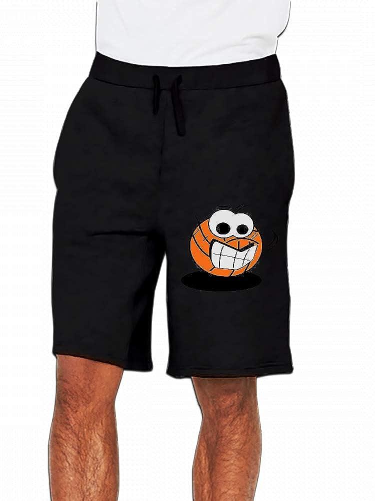 JiJingHeWang Volleyball Face Mens Casual Shorts Pants