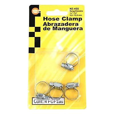 Koehler Enterprises KE4SS Hose Clamp Blister Pack, 4 Piece (Micro Size 4): Automotive