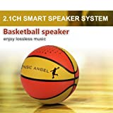 MUSIC ANGEL®Portable Wireless Bluetooth Speaker with Basketball handmade Design 12 Hours Playtime Speakers Compatible with iPhone iPad Android and Desktop Devices for Indoor/Outdoor/Shower Usage