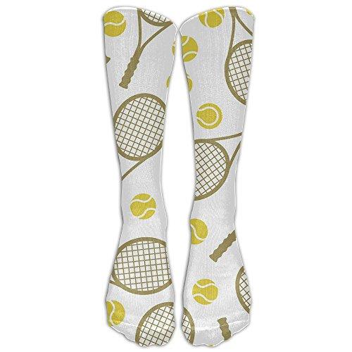 Women's Tennis Pattern Crew Socks Over Knee High Stocking Girls Boots Long Socks