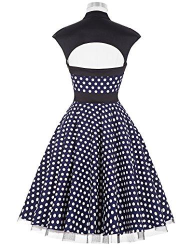 Dress Vestido Marino GK para mangas Azul Vintage Noche mujer Sin Hp7qx5Wg