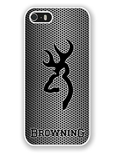 Price comparison product image iPhone 5S Phone Case, Browning Popular Gifts Case Cover for iPhone 5, 5S and iPhone SE(White)