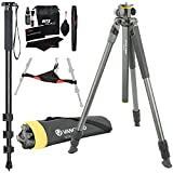 Vanguard Alta Pro 2+ 263AT Aluminum Tripod with Multi-Angle Center Column, Ritz Gear Tripod Stone Bag, 72-Inch Monopod with Quick Release and Ritz Gear Cleaning Kit