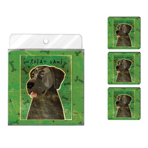 - Tree-Free Greetings NC38070 John W. Golden 4-Pack Artful Coaster Set, Blue Great Dane No Crop