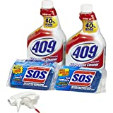 Formula 409 Multi-Surface Cleaner Spray and S.O.S All Surface Scrubber Sponge Value Pack