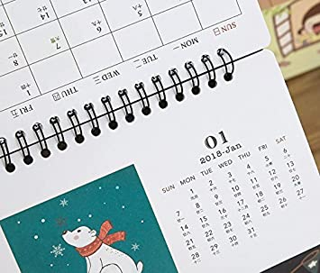 XCXpj Lovely Polar Bear Patrón Multifuncional Calendario Caja de ...