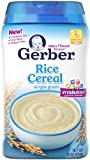 Gerber Baby Cereal, Rice, 16 Ounce
