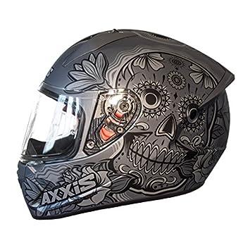 Casco Axxis STINGER DAYDEAD Gris Mate MEXIKAN SKULLS, CALAVERAS MEJICANAS CALAVERAS MEXICANAS (L)