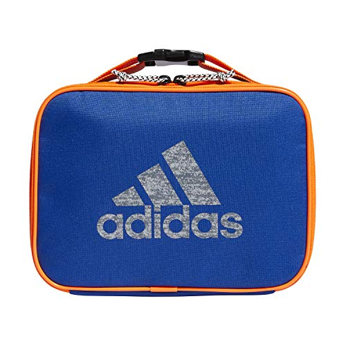 adidas Unisex Foundation Insulated Lunch Bag, Collegiate Royal/Solar Orange, ONE SIZE