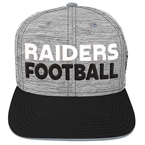 Outerstuff NFL NFL Oakland Raiders Youth Boys Space Dye Snapback Hat Heather Grey, Youth One Size