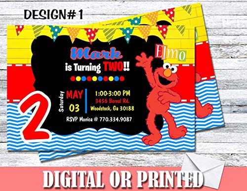 Elmo Sesame Street Personalized Birthday Invitations More Designs ()