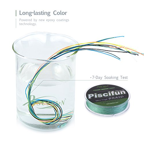 Piscifun pe braided fishing line 150yd green 65lb braid for Where to buy fishing line