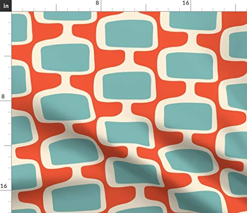 Spoonflower Retro Mod Fabric - Upholstery and Mid Century Modern Mid Century Modern Abstract Retro Funky Print on Fabric by The Yard - Petal Signature Cotton for Sewing Quilting Apparel Crafts Decor (Century Mid Fabric Modern)